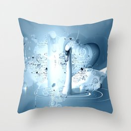 Schwanenpaar Throw Pillow