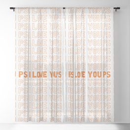 PS I Love You Sheer Curtain