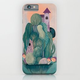 Floating dragon's home iPhone Case