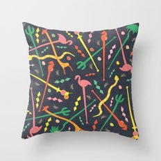 MCM Swizzle a Go Go Throw Pillow