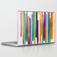 comic Laptop & iPad Skins featuring Colorful Stripes 1 by Mareike Böhmer