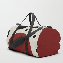 """""""Abstract Japanese Cow"""" Duffle Bag"""