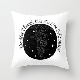 Black Phillip Throw Pillow
