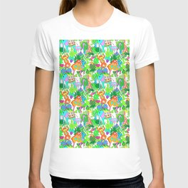 60's Groovy Zoo in White T-shirt
