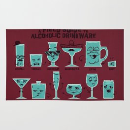 Field Guide to Alcoholic Drinkware Rug