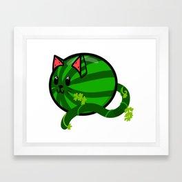 Super Sweet Melon Cat Framed Art Print