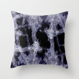 White Bushes  Throw Pillow