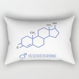 Sex hormones molecular formula. Testosterone Hormones symbol. Rectangular Pillow