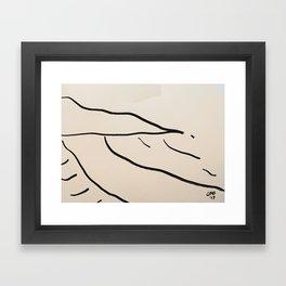 Playa Vasca Framed Art Print