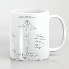 Pensive Drawing, Transitions through Triathlon Coffee Mug