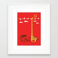 ilovedoodle Framed Art Prints featuring I'm Like A Bird by I Love Doodle