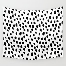 Hand drawn drops and dots on white - Mix & Match with Simplicty of life Wall Tapestry