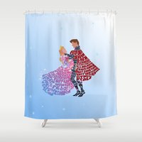 sleeping beauty Shower Curtains featuring Sleeping Beauty by pokegirl93