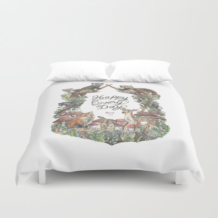 Happy Every Day! Duvet Cover