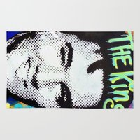 elvis presley Area & Throw Rugs featuring Elvis Presley  by Paola Gonzalez