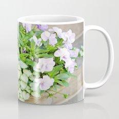 Purple Flowers Alongside Stoop Mug