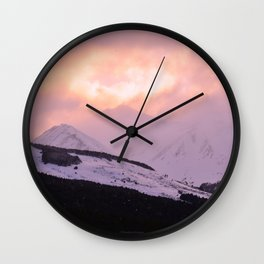Rose Quartz Turbulence - III Wall Clock