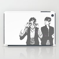 tegan and sara iPad Cases featuring Tegan & Tegan & Sara & Sara - Gray by c.beanan