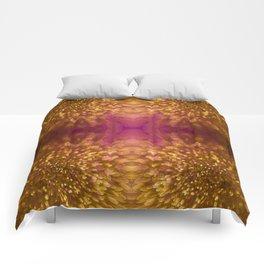 Gold Starburst Shimmer Comforters