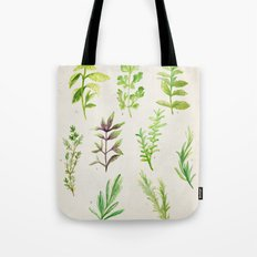 Watercolor Herbs Tote Bag