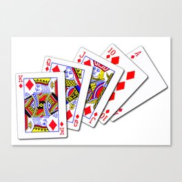Royal Flush Diamonds Canvas Print