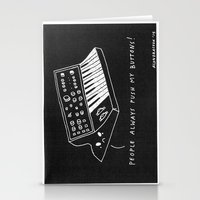 pun Stationery Cards featuring Moog pun by Alxndra Cook