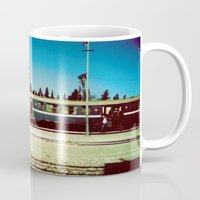 train Mugs featuring Train by Ibbanez