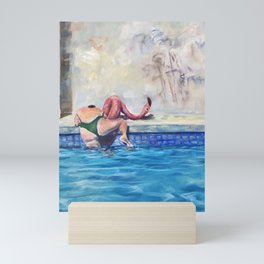 Getting out of the deep end Mini Art Print