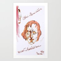 mozart Art Prints featuring Mozart & Salieri by MENAGU'