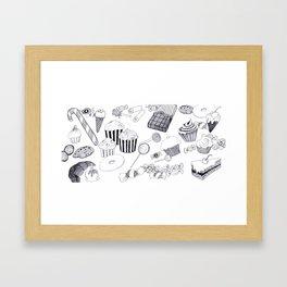 Süßigkeiten Framed Art Print
