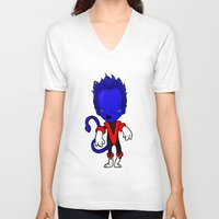 nightcrawler V-neck T-shirts featuring NIGHTCRAWLER by Space Bat designs