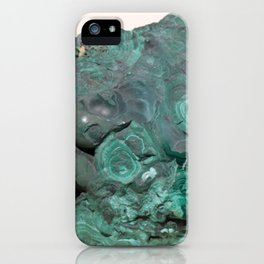 Natural Malachite iPhone Case