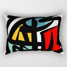 Street art abstract portrait pop Rectangular Pillow