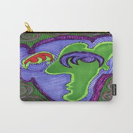 Green and Blue Face Carry-All Pouch