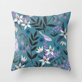 Hidden Critters Pattern Throw Pillow