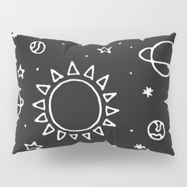 Planets Hand Drawn Pillow Sham