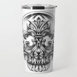 Engravering Skull Travel Mug