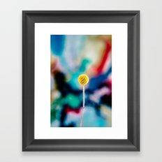 yellow poppy colorful art Framed Art Print