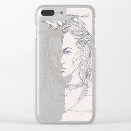 Paint me out to be Clear iPhone Case