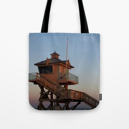 Guard Tower At Dusk Tote Bag