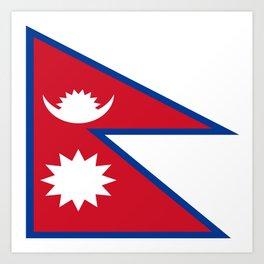 flag of nepal-nepal,buddhism,Nepali, Nepalese,india,asia,Kathmandu,Pokhara,tibet Art Print