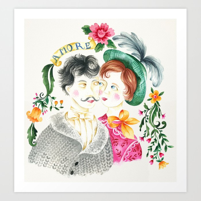 Valentine Couple Art Print