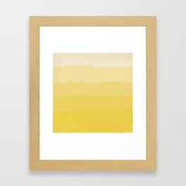 Five Shades of Watercolor Sand Framed Art Print