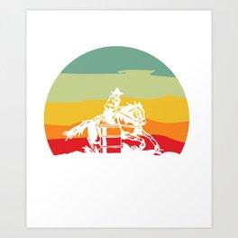 3 Barrels, 2 Hearts, 1 Dream Horse Barrel Racing Art Print