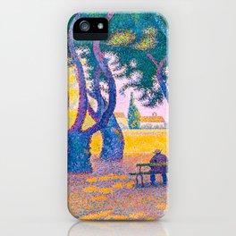 Paul Signac - Place des Lices, St. Tropez - Colorful Vintage Fine Art iPhone Case
