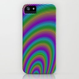 Fractal Rainbow Tunnel iPhone Case