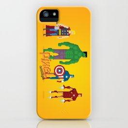 Super Heroes - Pixel Nostalgia iPhone Case