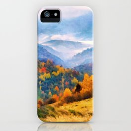 Autumn in the mountains iPhone Case
