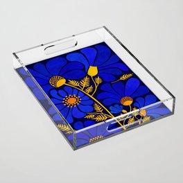 Wildflower Garden Acrylic Tray