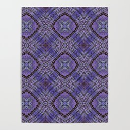 Purple Zen Doodle Pattern Poster